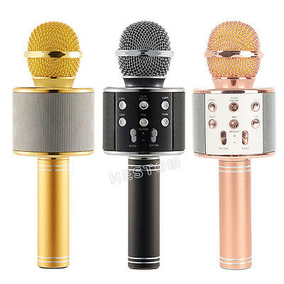 Handheld KTV Bluetooth Mic Speaker Wireless Karaoke Microphone USB Player WS-858