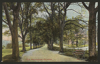 Bristol. Clifton. The Promenade With a Poem of Lost Youth. Vintage Postcard