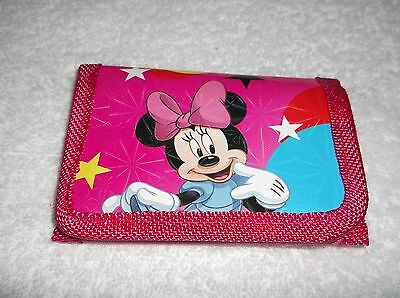DISNEY MINNIE MOUSE HOT PINK KIDS COIN Purse WALLET Unwanted Party Bag Gift B