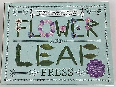 Flower & Leaf Wooden Press By Gabriela Delworth