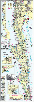 Poster Map of Baja California, Mexico