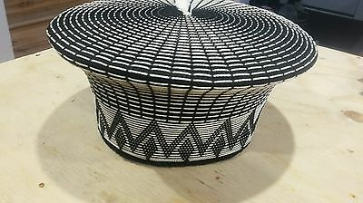 ZULU (ISICHOLOS) South African hat White/BLACK