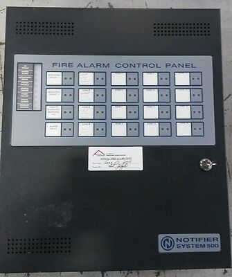 Notifier System 500 Fire Alarm Panel - Complete Working Panel - Used