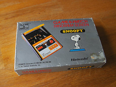 "Lcd game Panorama screen "" Snoopy "" Nintendo game watch"