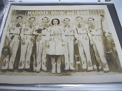 Maddox Brothers And Rose Autographed Photo 1940's