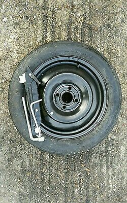 Ford KA Space Saver Spare Wheel /& Tyre 15inch Jack /& Spanner 2009 To 2017