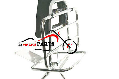 Vespa Rear Carrier With Backrest Chrome Plated Px 80 125 200 Scooter