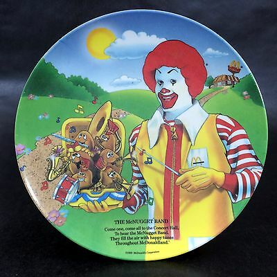 McDonalds Plate Vintage 80s Collectible The McNugget Band Ronald McDonald 1989