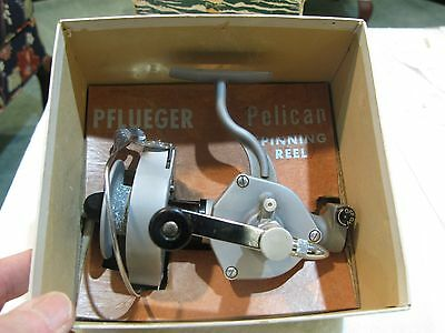 Minty Pfleuger Pelican # 1020 Reel + Box Collector Working Bail + Handle Nice