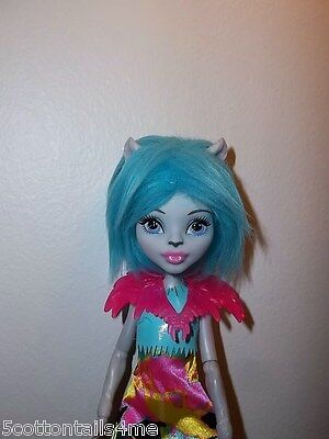 Monster high Ever after doll Electrfied Silvi Timberwolf & outfit blue faux fur
