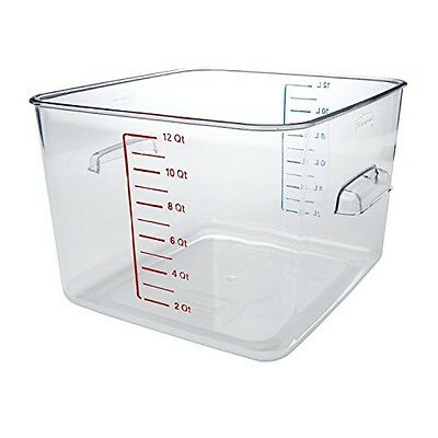 Rubbermaid Commercial Carb-X Space Saving Square Food Storage Container,