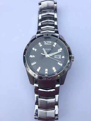 fossil watch 10 ATM Men's Wristwatch With Crystals