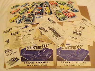 Vintage Scalextric Track Circuits and Racing Rules 6+7 + Servicing Scheme