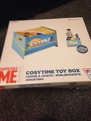DESPICABLE ME MINIONS TOY BOX WITH COVER NEW STORAGE BEDROOM *new*