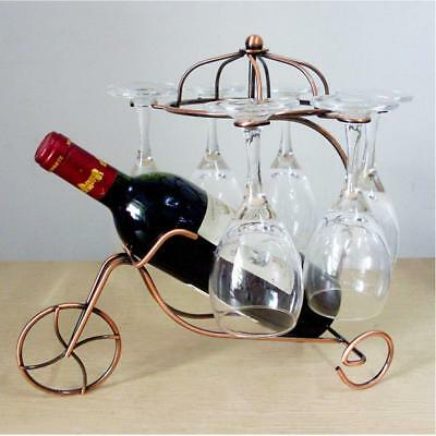 Wine Bottle Glass Champagne Holder Rack Bar Display Stand Bracket Copper #3