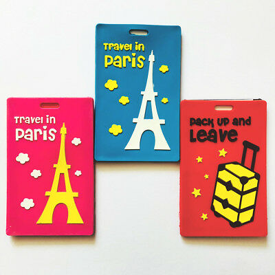 Paris Holiday Fashion Luggage Tags Cute Suitcase Labels Travel Bag Identity ID