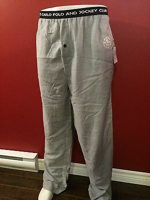 "MONTE CARLO Polo & Jockey Club Men's Grey Lounge Pants - Size 5XL (35-52"")- NWT"