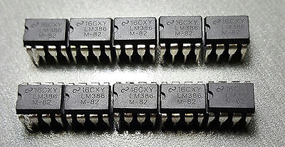 LM386 Amplifier IC 1-Channel (Mono) Class AB 8-PDIP Pack of 10
