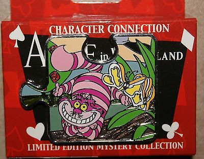 Disney Character Connection Alice Wonderland Mystery Puzzle Cheshire Cat LE Pin