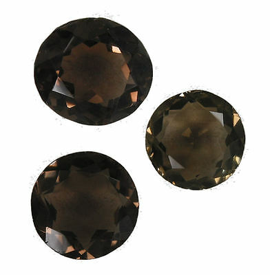 Superb  28.39 Carat. Set of 3 Smokey Quartz Gemstones