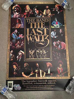 The Last Waltz Boxed Set Original Promo Poster-The Band-Dylan-Neil Young