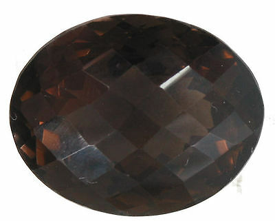 Striking 65.94 Carat Oval Checkerboard Cut Smokey Quartz