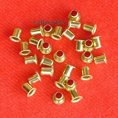 500x Copper Alloy Brass Eyelet 3.5x5mm for Soldering Connection-Fe