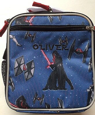 NEW (Pottery Barn Kids Classic Lunch Bag Box Star Wars Monogrammed OLIVER PBT