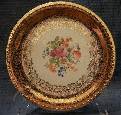 TAYLOR SMITH & TAYLOR USA Dessert Plate Eastern China 22K Gold Vintage 1938 RARE