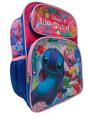 "Disney Lilo and Stitch 16"" Girls/Boys Large School Backpack"