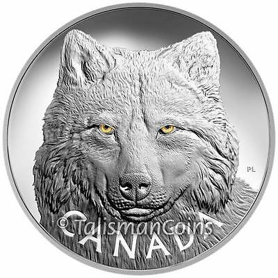 Canada 2017 Enamel Eyes of Wildlife #4 Timber Wolf $250 1 Kilogram Silver Kilo