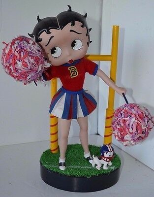 Vintage Betty Boop Cheerleading Doll Figure Franklin Mint No Box