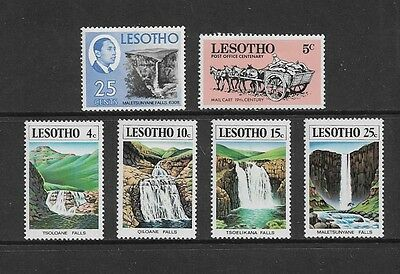 LESOTHO - mixed collection, 1978 Waterfalls, set of 4 + 1967 & 1972 stamps