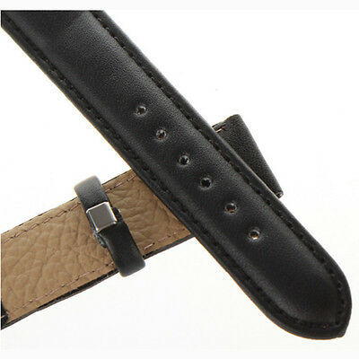 Good Smart Unisex Genuine Leather Black Brown Watch Strap Band Wristwatch Bands