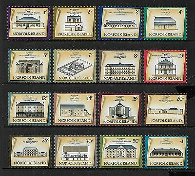 NORFOLK ISLAND - mint 1973 Historic Buildings, set of 16, MNH MUH