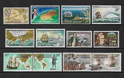 NORFOLK ISLAND - mint 1969-1979 Captain Cook issues, 6 sets, MNH MUH