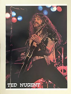 TED NUGENT, RARE AUTHENTIC 1980's  POSTER