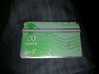 BRITISH TELECOM PHONECARD BT PHONE CARD Rare 20 Units COLLECTABLE OLD