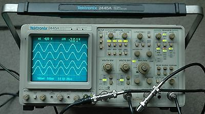 Tektronix 2445A 4 Channel 150 MHz Oscilloscope B014507, Calibrated, Works Great!