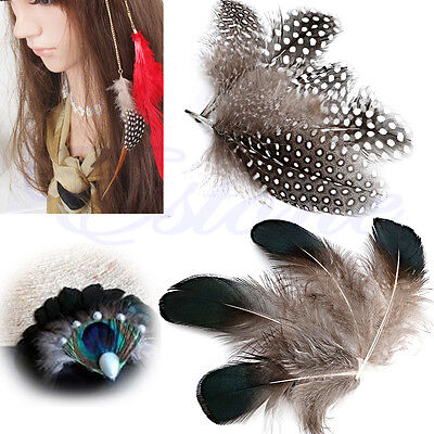 50Pcs Natural Pheasant Feathers For Craft Sewing Millinery Costume Wedding DIY