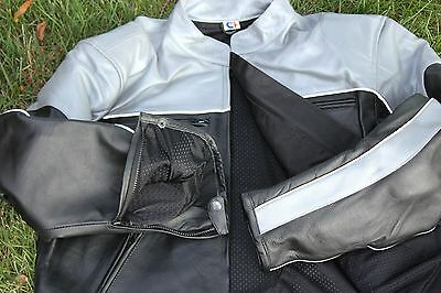 Leather Jacket for Motorcyclist Cowhide Leather Jackets for men's