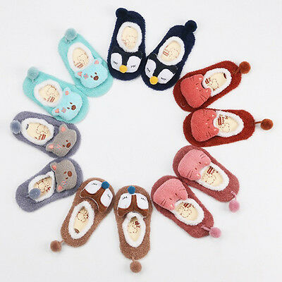 Unisex Coral Velvet Cartoon Baby Anti-slip Socks for Infant Boy Girl 0-5 Years
