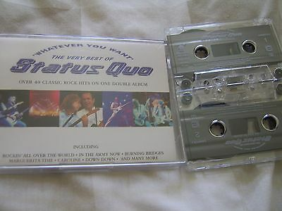 Status Quo the very best of whatever you want  cassette tape ex ex