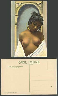 Tunisia Old Postcard Native Woman Lady Girl Bare Breasts, Eastern Academic Study