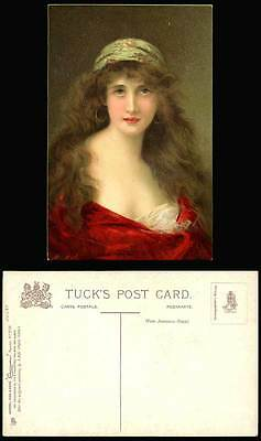 A Asti Artist Signed Juliet Glamour Lady Glamorous Woman Old Tuck's ART Postcard