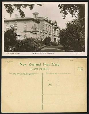 New Zealand Old R.P. Postcard AUCKLAND Government House