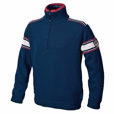 CMP Campagnolo Fabio Knitted Windproof Pullover Navy Size Medium / Large