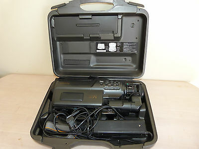 Panasonic NV-M10A Vintage VHS Camcorder with accessories, retro tech