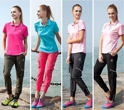 Casual Women Pants Water Repellent Elastic Waist Camping Hiking Outdoor Wear