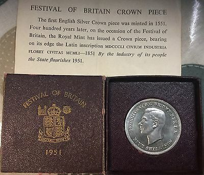 Festival Of Britain Royal Mint 1951 George Vi Coin Boxed With Leaflet